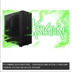 PC GAMING QDSS KRISTORE' - S340 RAZER AMD RYZEN 5 1500X RAM 16GB HD 1TB SSD 250 GB GTX 1070 8GB